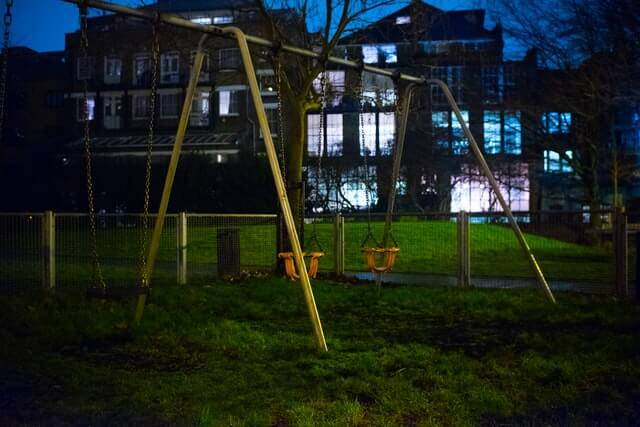 Attach your swing set to the ground